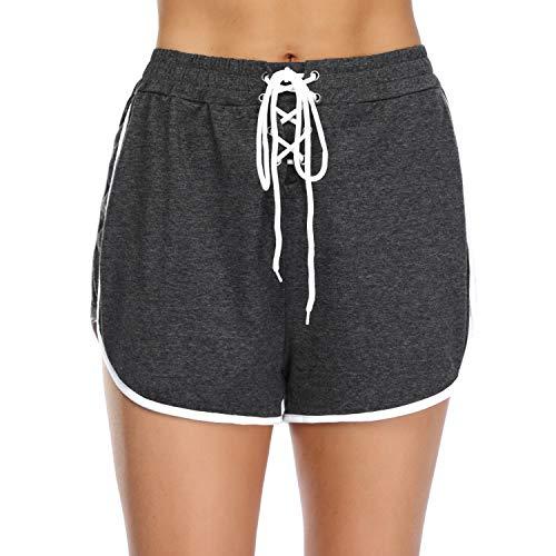 iClosam Pantalones Deportivo Corto Mujer,Pantalón Moda para Deportes Yoga Casual Gimnasio Ejercicio...