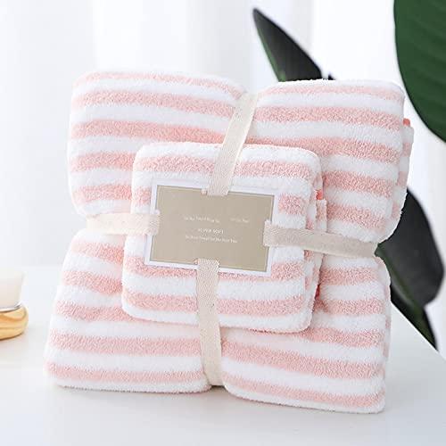 Juego de toallas y toallas de baño, toalla de microfibra, no pierde el pelo, no se decolora, toalla catiónica para madre y niño