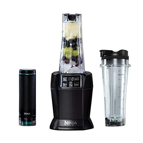 Ninja Nutri 1000W Personal Blender [BL580UKV] with FreshVac Technology, 1000 W, Black