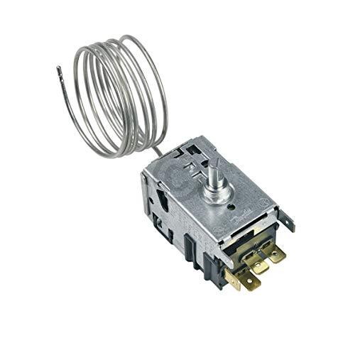 Thermostat Ersatz für Danfoss 077B3642 Kühlthermostat Kapillarrohr 4x6,3mm AMP für Kühlschrank Gefrierschrank