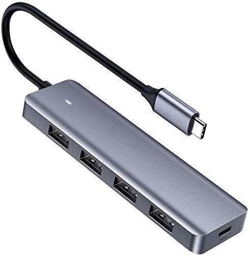 USB C Hub 4 Ports USB Type C to USB 3.0 Hub Adapter with Micro USB for MacBook Pro, iMac, Samsung Galaxy Note 10 S10 S9, LG, Google Chromebook Pixelbook, Dell XPS, Oculus Rift S,Lenovo Yoga
