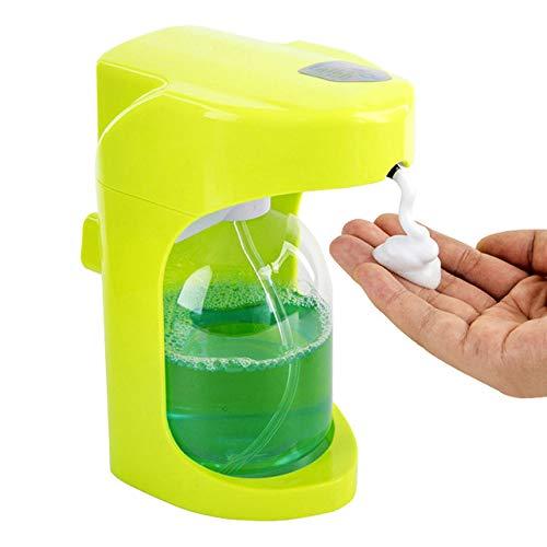 LKU Automatische schuimzeepdispenser van 500 ml voor wanddispenser voor vloeibare zeep, slimme sensor, groen