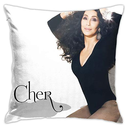 Square 18x18 Inches Decorative Pillowcases Cher Pillow Covers Cushion Cases for Sofa Bedroom Car