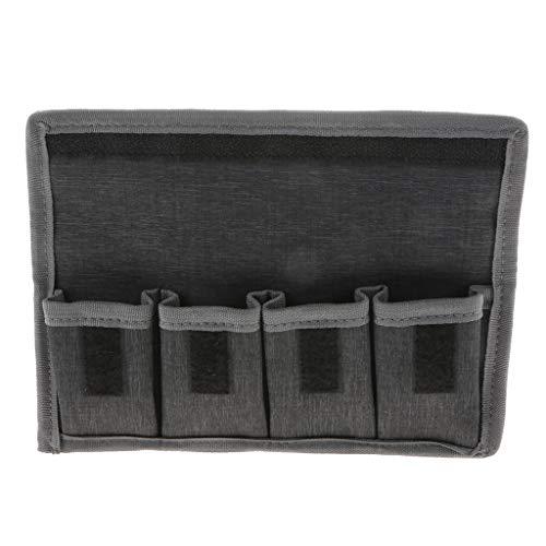 P Prettyia DSLR Batteriefachhalter Aufbewahrungstasche (4 Taschen) Für AA/AAA Batterie Und LP E6 LP E8 LP E10 LP E12 Batterie, Nikon EN EL14 EN EL15 Batt