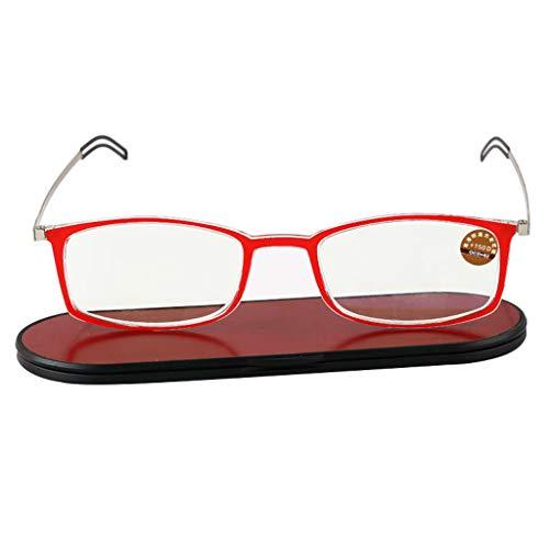 BWBZ Gafas de Lectura Anti-Azules Gafas de Lectura Ultrafinas Lente de Resina HD Alivian La Fatiga Ocular Protección contra La Radiación Almohadillas Nasales Cómodas Bisagra Resistente Portátil