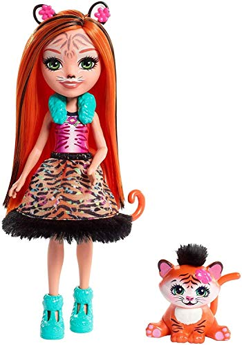 Enchantimals Muñeca con mascota Tanzie Tiger (Mattel FRH39)