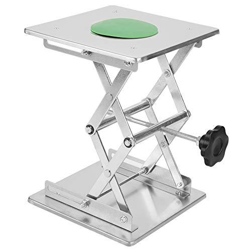RVS SS304 Lift Tafel Laboratorium Lifting Platform Stand Schaar Rek Aanpassing Hoogte van het Instrument 200 * 200 * 280mm