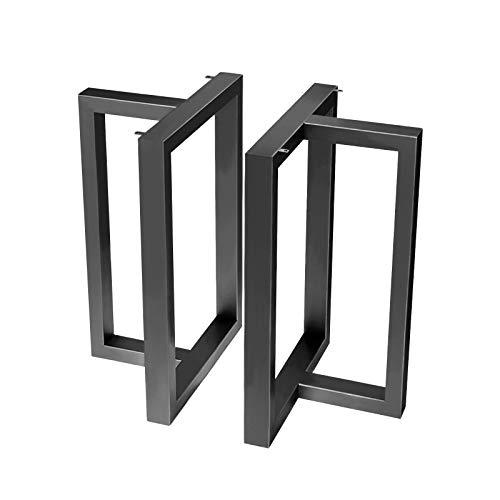 Gambe da Tavolo Gambe per Mobili Industriale in Acciaio Inox con Base in Gomma Antiscivolo Set di 2 pezzi