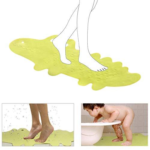QGPWHLS Extra lange anti-slip milieu TPR rubberen badmat douchecabine mat in het bad voor baby's en kinderen, met 185 krachtige zuignap, 95 X 34,5 cm
