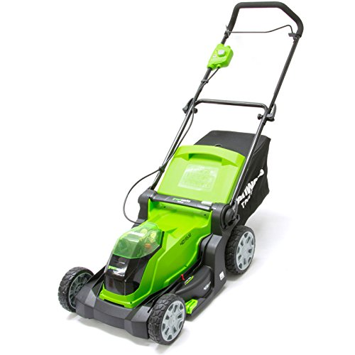 Greenworks Tondeuse à gazon sans fil sur batterie 41cm 40V Lithium-ion avec 2 batteries...