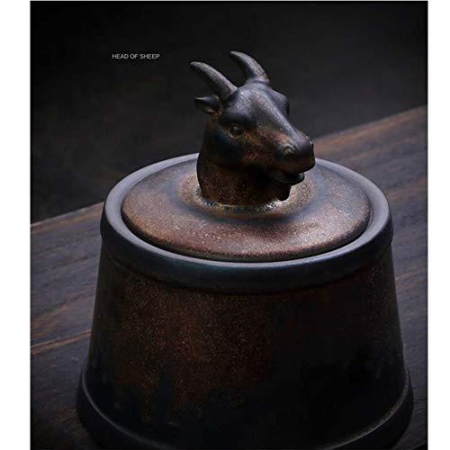 ZQY Gris Animal doméstico cremación Titular Memorial