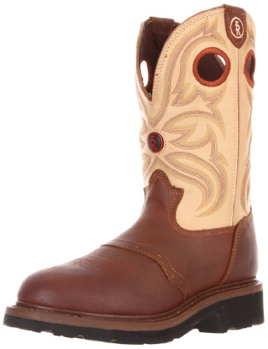 Tony Lama Men's RR3210 Work Boot,Sienna Grizzly/Beige Bayou,9 D US