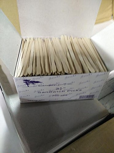 """3.5"""" Wood Sandwich Picks Pkd in 750 Pcs 3packs"""