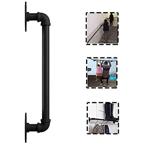 Treppengeländer Geländer -Complete Kit Schmiedeeisen Rohr ältere Treppen Geländer, Innen Korridor Attikwand Alter Mann Anti-Skid-Zaun unterstützt 200kg (Größe: 6 ft) (Size : 180cm)