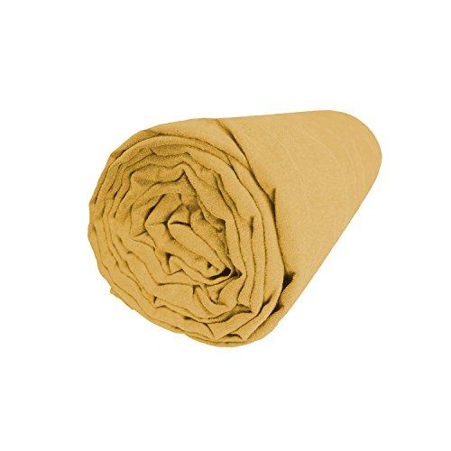 BLANC CERISE Drap Housse en Lin lavé véritable 160x200 cm - Bonnet 30cm