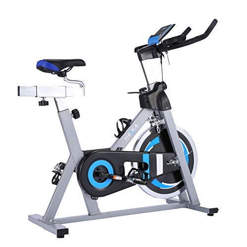 HEKA Cyclette Bici da casa Bicicletta da Ciclismo Bicicletta da Fitness Bici da Fitness con Monitor LCD per Cardiofrequenzimetro, Volano Pesante (Grigio)