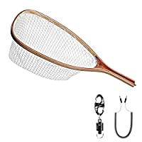 SF Fly Fishing Landing Soft Rubber Mesh Trout Catch and Release (Clear A Combo Small Holes)