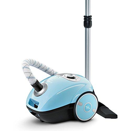 Bosch MoveOn Bodenstaubsauger mit Beutel BGL35MON2, geringer Energieverbrauch, extra saubere Ausblasluft, für Allergiker geeignet, 700 Watt, hellblau