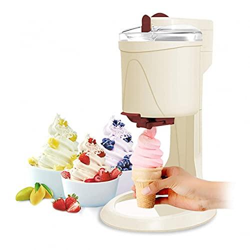 RONGJJ Macchina per Gelato Portatile per Uso Domestico, Macchina per Gelato Soft, Macchina per Gelato Domestico da Frutta, Macchina per Yogurt Congelato Dessert di Frutta Congelata