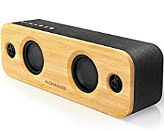 【SUPERIOR SOUND QUALITY WITH RICH BASS】Can Bluetooth speaker with only two drivers satisfy your love of music? I recommend the new AOMAIS 30-watt Bluetooth speaker has unique 4 drivers, two high-output woofers, two tweeters and a powerful amplifier,w...