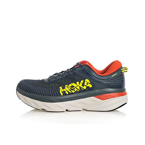 HOKA ONE ONE Men's Bondi 7 Running Shoes Turbulence/Chili 10 M US
