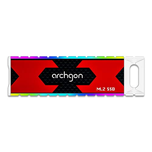 Archgon 960GB USB 3.1 Gen.2 Gaming RGB External SSD Portable Solid State Drive Model G702CW (960GB, G702CW)