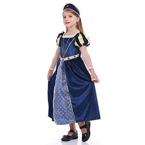 LLSS Cosplay Halloween Navidad Novedad Regalo Disfraz para niños Rey Disfraz de príncipe Traje de Corte Retro Europeo Reina Reina Princesa Rendimiento
