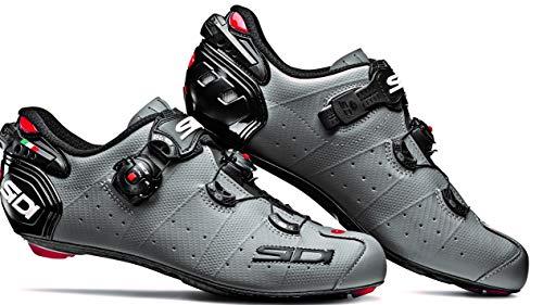 SIDI Schuhe Wire 2 Matt Carbon, Fahrradschuhe für Herren, grau matt schwarz, 46