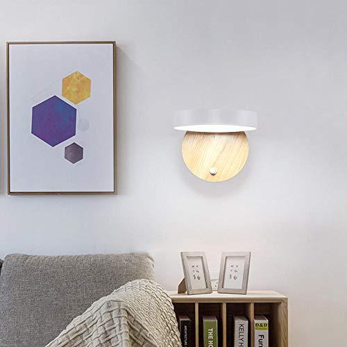 Wandlamp, Scandinavisch, nachtkastje, trap, modern, eenvoudige allee, voor kinderkamer, creatieve lamp van massief hout, doorsnede 8040 [Stuur een wit licht G9]