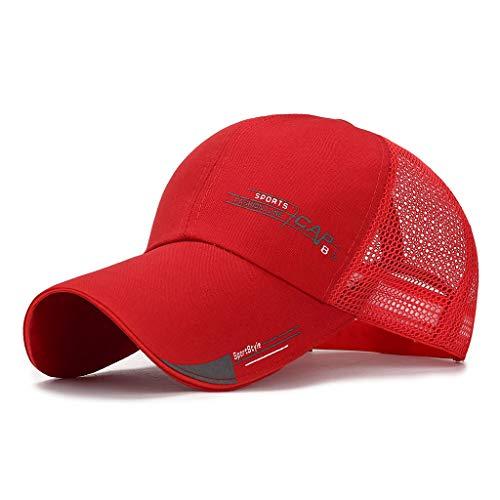 aijofi Unisex Mesh Baseball Mütze mit Sommer UV-Schutz Damen Mode Sport Caps Schirmmütze Kappe Outdoor Atmungsaktiv Kappe Visor Cap