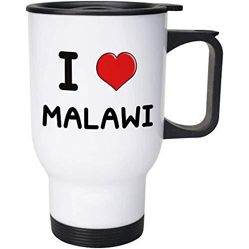Stamp Press 400ml 'I Love Malawi' Wiederverwendbarer Kaffee / Reise-Becher (MG00000867)