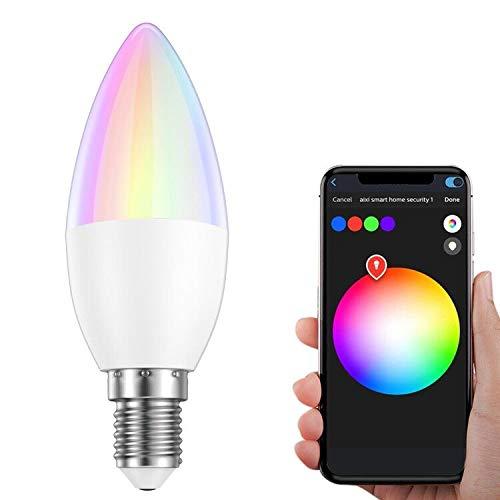 GLEDOPTO Smart LED WiFi Lampen,ZigBee Dimmbar Mehrfarbig RGB E14 LED Birne Sprachgesteuertes Stimmung Licht Direkt kompatibel mit Echo Plus und Echo Show (2. Gen.), Kompatibel mit Philips Hue Bridge