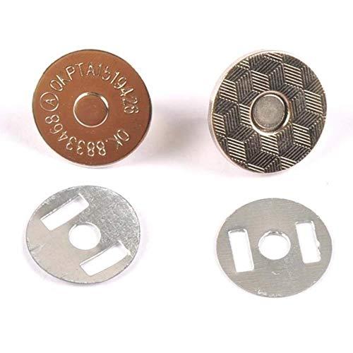 10 juegos de cierres a presión magnéticos de cobre de alta presión, botones, bolso, monedero, billetera, bolsas para manualidades, piezas, accesorios, 10 mm 14 mm 18 mm cp2110-plata, 18 mm