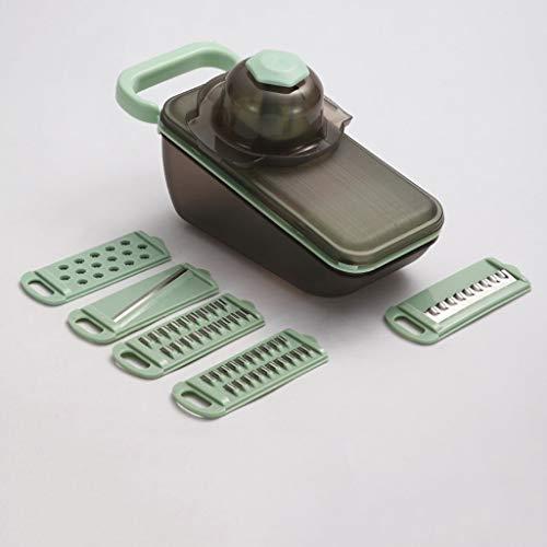 Rallador Multifuncional de cocina Trituradora Trituradora de Hogares Rallador Rallador Shredder Herramienta de corte de la máquina de cortar (Color : Pink)