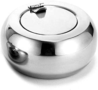 Cigar Ashtray Round Stainless Steel Ashtray Home Party Bar Decoration Ash Holder For Gift Cigarette Lighters & Smoking Acc...