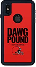 Skinit Waterproof Phone Case for iPhone X - Officially Licensed NFL Cleveland Browns Team Motto Design