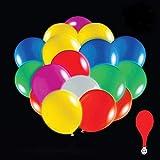 anaoo Globos LED Multicolores para Fiesta Boda Cumpleaños, Navidades Cereminias, Eventos, Globos luz Luminosas de látex 50 Piezas, Multicolores