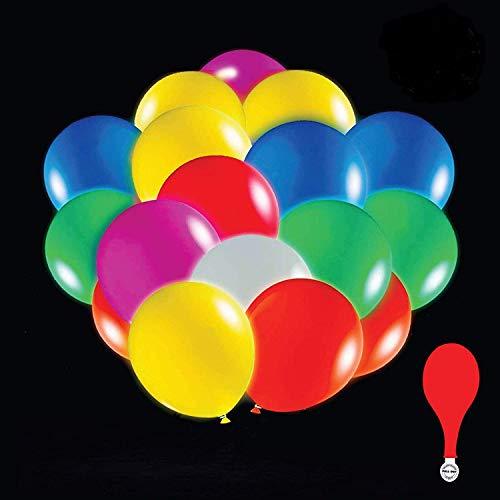 anaoo 50 Pcs Ballons LED Lunimeux, Ballon Baudruche Multicolore, Décoration Lumineuse LED pour Noël Soirée de Mariage Fête et Anniversaire