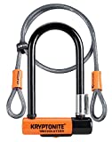 Kryptonite Evolution Mini-7 Lock with Flex Cable and Bracket - Orange, 7-Inch