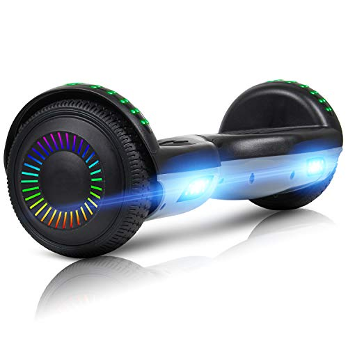 LIEAGLE Hoverboard, 6.5' Self Balancing Scooter Hover Board with UL2272 Certified Wheels LED Lights for Kids Adults(Black)
