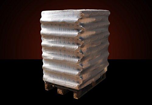 ▶ runde Buchenbriketts XXL ohne Loch, 0,35/kg*, 960kg auf Palette, kostenfreie Lieferung, handlich verpackt in 96 Pakete à 10kg, ohne Bindemittel hergestellt, Holz-Briketts, Hartholzbriketts
