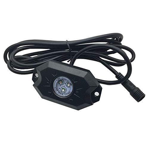 4 Pods Car RGB LED Rock Luz Decorativa con Control de aplicación Bluetooth Función de sincronización Modo de música Kit de lámparas de neón Multicolor, fácil de Instalar