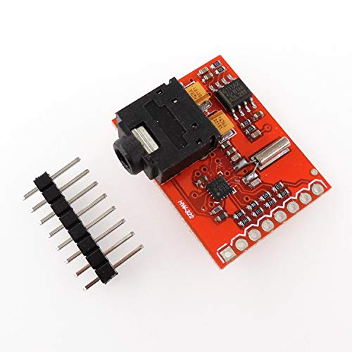 Mazudr HW-322 Si4703 FM-Tuner-Evaluierungskarte für tragbare Arduino-Radio-Tuner-Karte Tragbare elektrische Instrumente (Farbe: rot)