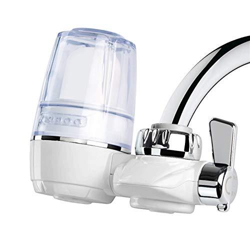 Purificador De Agua Filtro Agua Filtro De Agua para Grifo Sistema De Filtración del Grifo De Agua   Blanco