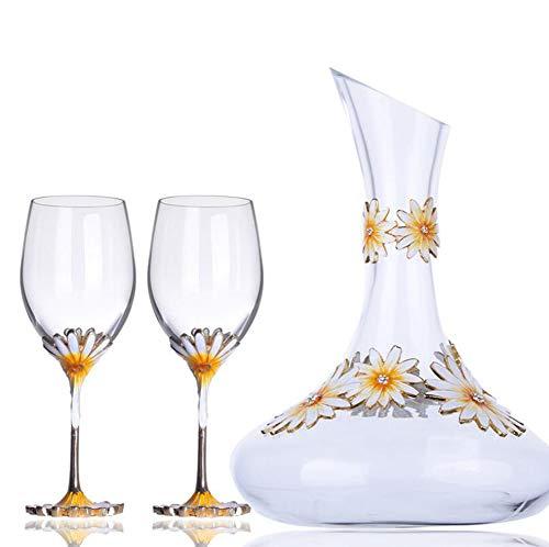 FENGT Kristal Glas Stemware Collectie Rode Wijn Glas/Decanter (1500Ml) Perfect voor Wijn, Koffie, Drankjes, Champagne, Cocktails, Exclusieve Voor Thuis, Kantoor, Set Van 3/12Ounce