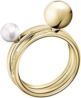 Calvin Klein Bubbly Women's Yellow Gold PVD Ring Set