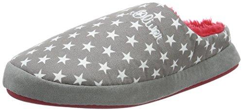 s.Oliver Unisex-Erwachsene 47100 Pantoffeln, Grau (GREY/WHITE 213), 35