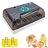PROBEEALLYU Egg Fully Incubator Digital Automatic Incubator for Eggs, Ultra-Quiet Incubator with Clear