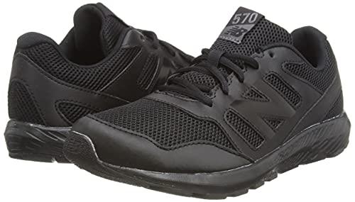 New Balance Baby Boys 570v2 Road Running Shoe, Black, 5 UK Child