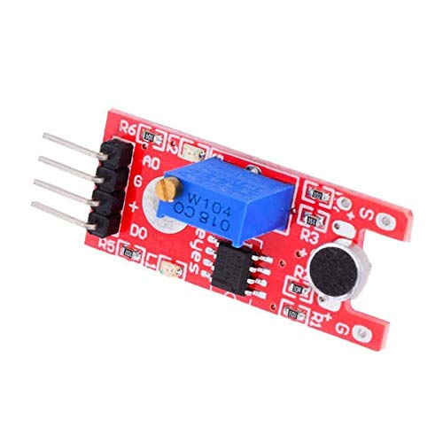 KY-038 Microphone Sound Detection Sensor Module for Arduino - products that work with official Arduino boards 5Pcs